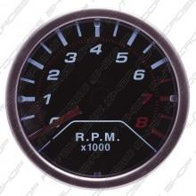 Performance Instrument zwart 2'' Tacho RPM LED
