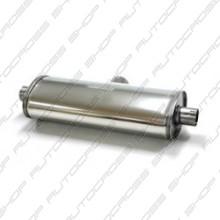 Uitlaatdemper 63.5 mm RVS Duplex