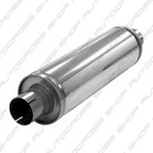 Uitlaatdemper 63.5 mm RVS Slim
