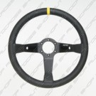 3 Spoke Black Leather 90mm depth