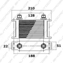 Oil Cooler 115mm Width 7 Row's Mocal